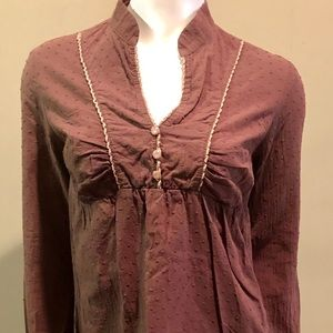 Final touch long sleeve top size med